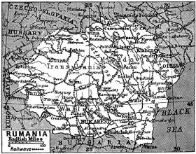 Map of Rumania 1922