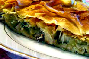 Λαϊστινή Βασιλόπιτα (Κρεατόπιτα Πρωτοχρονιάτικη) με κρέας από ζυγούρι και πράσα